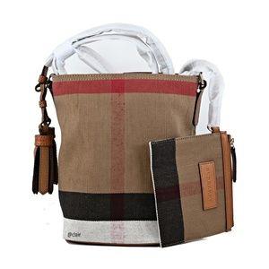 Burberry Mini Ashby Canvas Check Cross Body Bag
